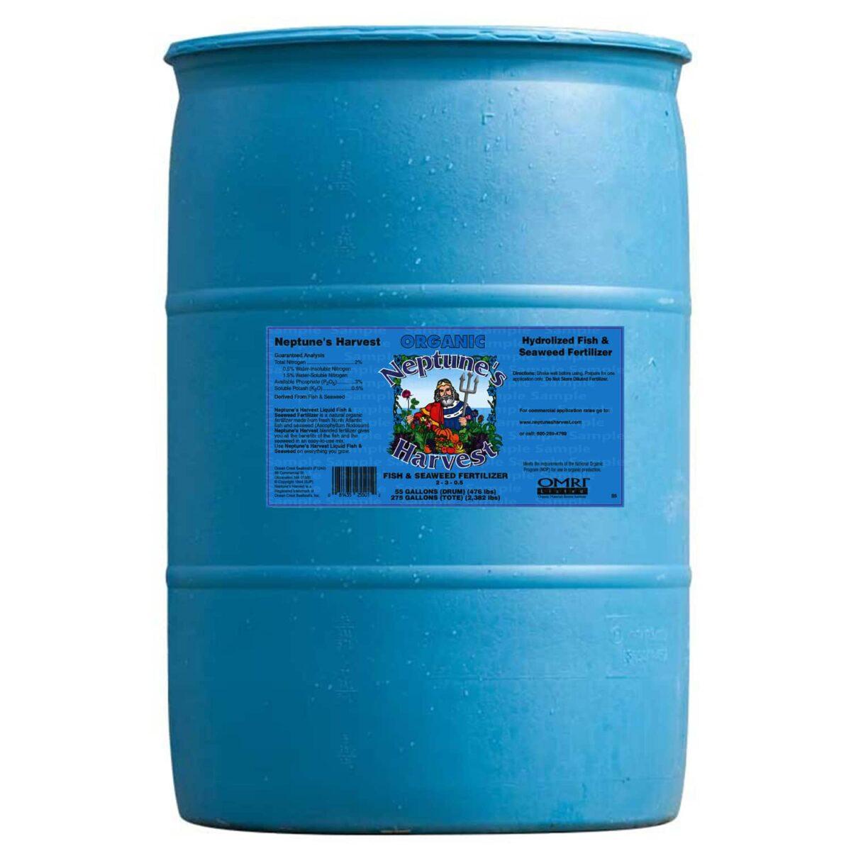 55 gallon barrel fish seaweed fertilizer