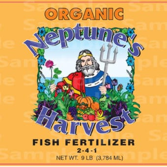 neptune's harvest fish fertilizer label