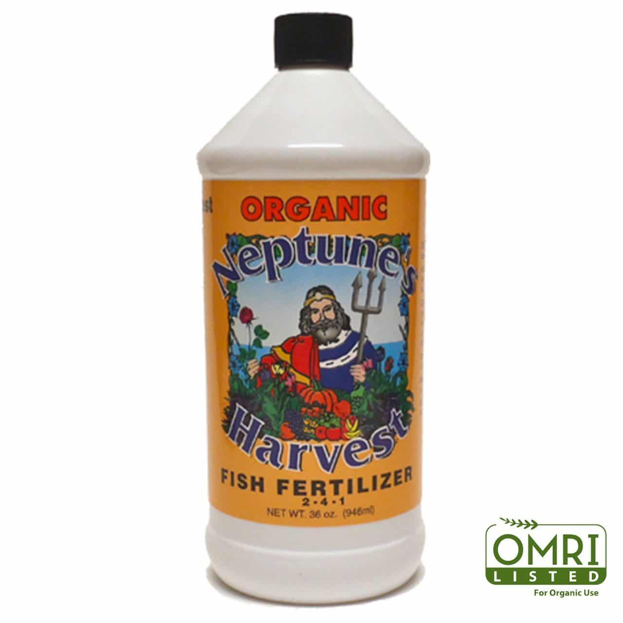 neptune's harvest hydrolyzed fish fertilizer one quart 2-4-1
