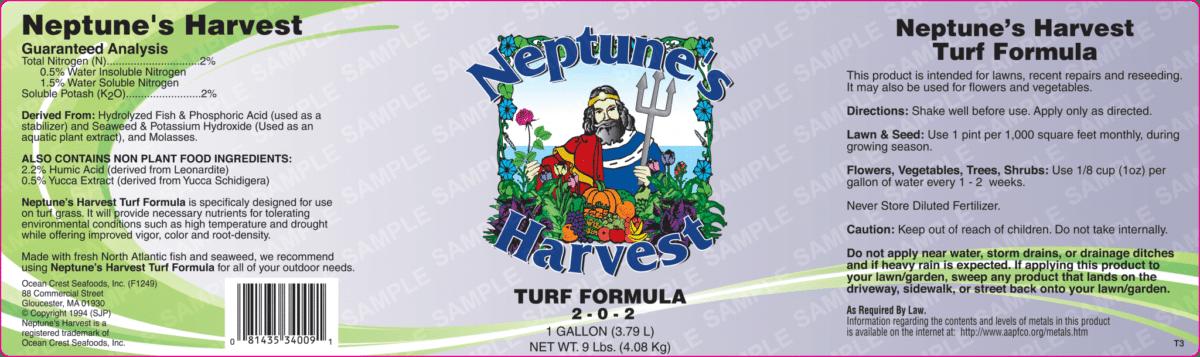turf formula label
